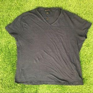 John Varvatos USA V-Neck Cotton Striped Shirt XL